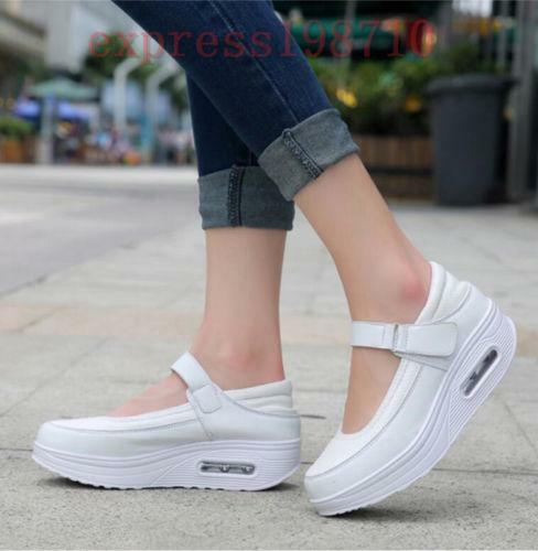 Womens Wedge Heels Platform Shoes Ankle Pumps Athletic Sneakers Light Casual sgh