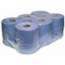 Blau Zentral Futter Papier Rollen / Handtücher x 6