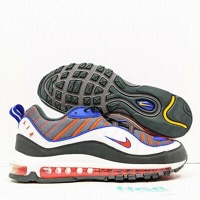 Nike Air Max 98 Men S Running Training Gym Lifestyle Grey Orange