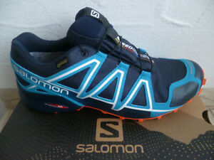 Salomon Speedcross 4 GTX Trainers Low Shoes Sneakers Waterproof Blue New