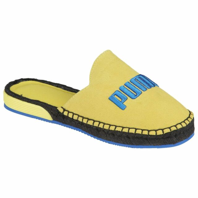 reputable site 9cf82 87455 PUMA Fenty by Rihanna Espadrilles Flats Slides Slip on Yellow Blue SNEAKERS  Shoe