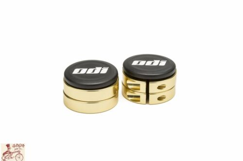 ODI GOLD BMX-MTB BICYCLE GRIP LOCK JAW CLAMPS W// SNAP CAPS--SET OF 4