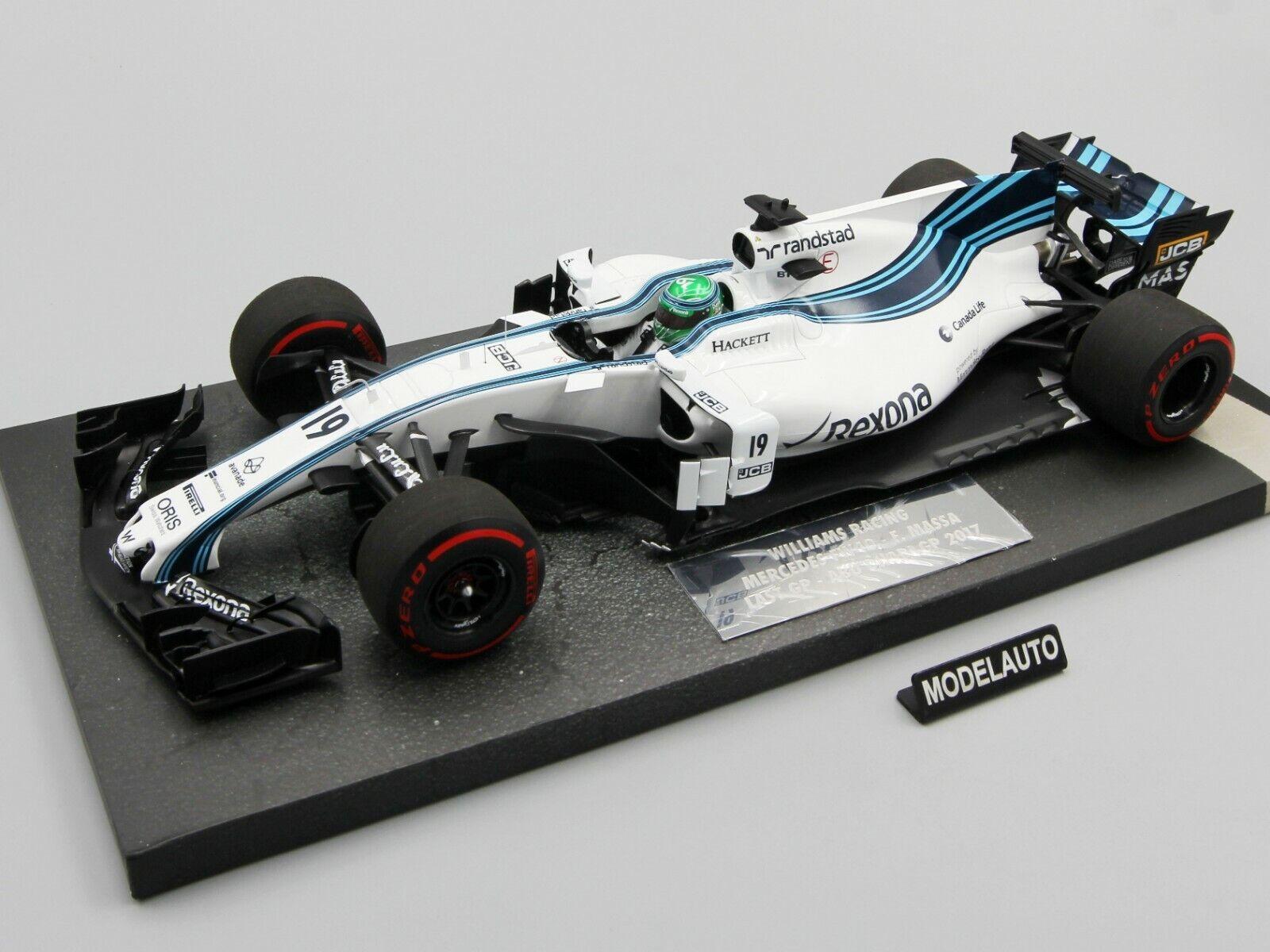 Minichamps 1 18 Williams Martini Racing Mercedes F. Massa Abu Dabi dernier grand prix 2017
