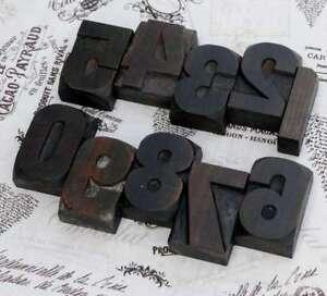 0-9-Zahlen-Holzzahlen-62-mm-Lettern-Holzlettern-Vintage-shabby-chic-letterpress