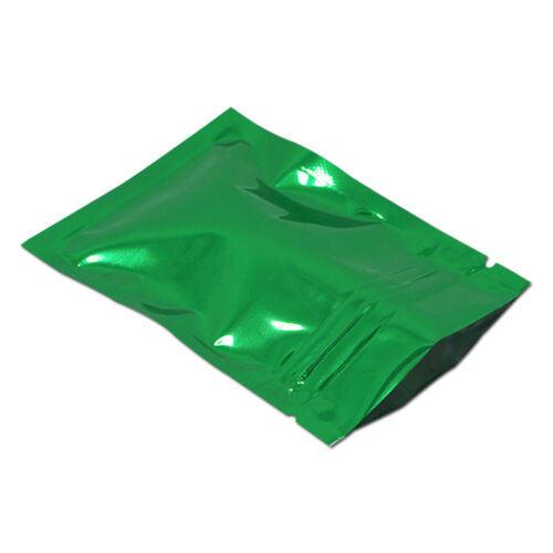 """3.9/""""x5.9/"""" Color Heat Seal Smell Proof Mylar Foil Ziplock Bags Pouches Food Grade"""
