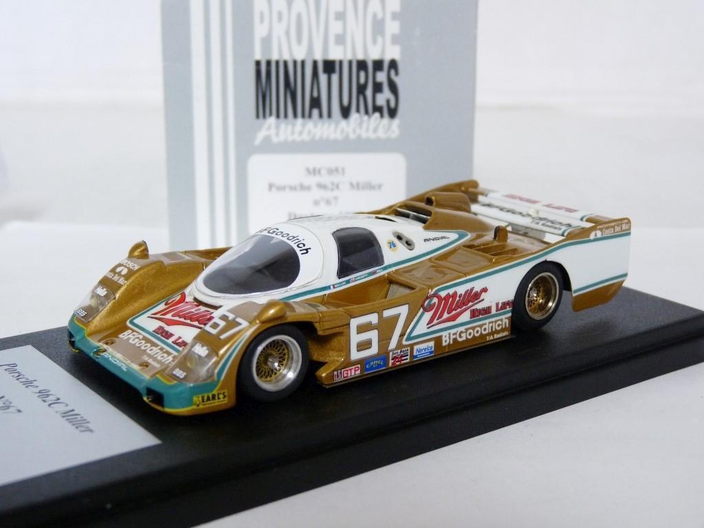 Provence MC051 1 43 Porsche 962C Miller Daytona 1989 Coche Modelo de Resina Hecho a Mano