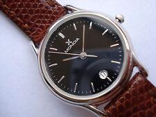 Orologio acciaio Donna MONDIA di ZENIT swiss cinturino pelle 6000450975 Nuovo!