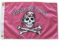"""PIRATE PRINCESS  BOAT FLAG 12X18"""" PIRATE JOLLY ROGER"""