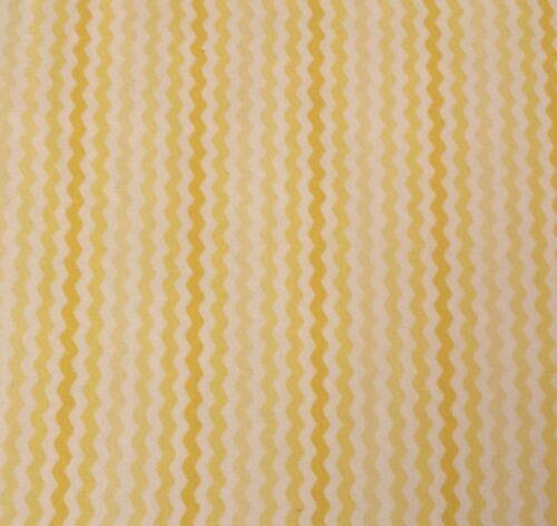 Sorbets QT Basics BTY Quilting Treasures Tonal Yellow Rick Rac Ric Rack