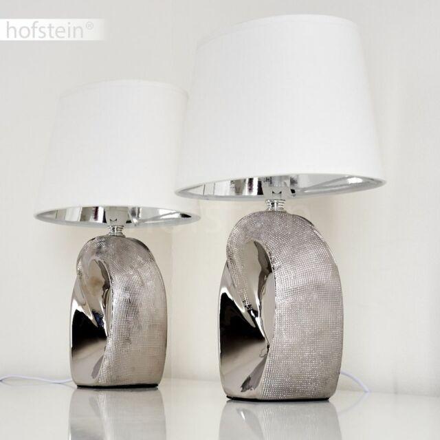 2x LED Design Nacht Tisch Lampen Glas Kugel Sternen Effekt Deko Leuchten bronze