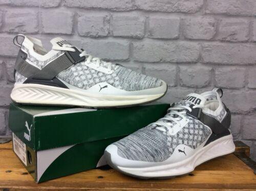 43 Evo Knit Puma blanc Uk Hommes gris baskets Ignite 9 Eu Les L35ARj4q