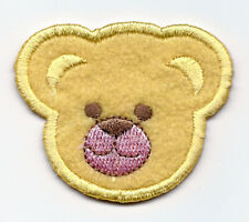 """2.5X2.5/"""" Teddy Bear IRON ON PATCH Sew On applique patch pink shirt furry Todd"""