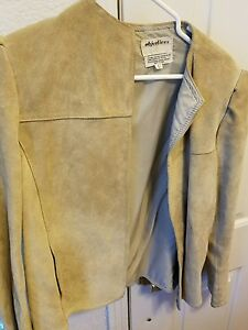 Objectives-tan-suede-women-039-s-jacket-in-large-size-8-12