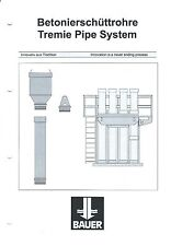 Equipment Brochure - Bauer - Tremie Pipe System - c2001 (E3444)