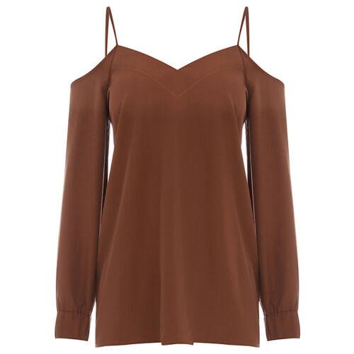 WAREHOUSE Cami Cold Shoulder Top 6//8//10//12//14//18 RRP £35