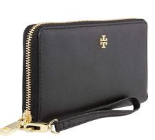 Tory Burch York Saffiano Zip Passport CONTINENTAL Wallet Black 40882