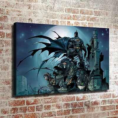 "Batman Figure Picture 16/""x20/"" Home Decor HD Canvas prints Room Wall art Painting"
