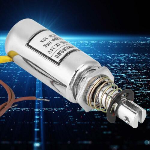 24V 9.8N DC Solenoid Electromagnet Push Pull Gleichstrom Magnet Elektromagnet