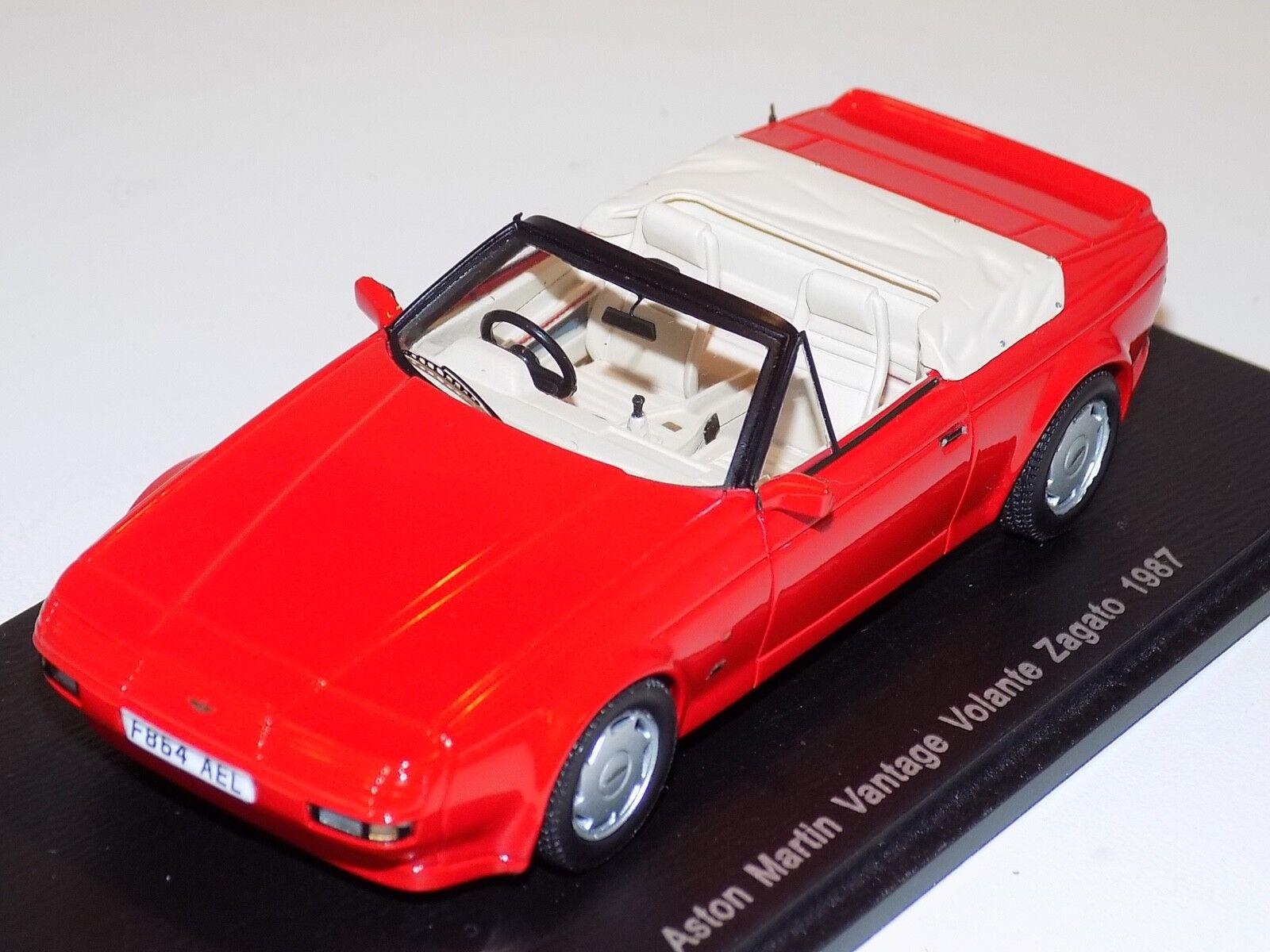 1 43 Spark Street Aston Martin Zagato Vantage Volante En rosso 1987 S2158