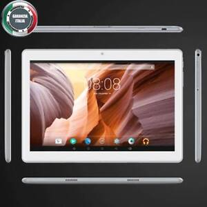 PC Tablet 10.1 Pollici Octa Core 64GB Rom 4GB Ram Android 7 Dual Sim 3G Argento