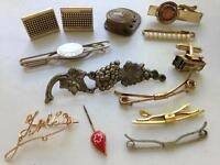 Steampunk jewelry lot of 13 Red Cross blood donor Lois crown American Legion RR