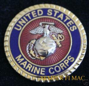 EAGLE GLOBE ANCHOR EGA PEWTER HAT PIN MADE IN US MARINES USMC MCRD MCAS MCB GIFT