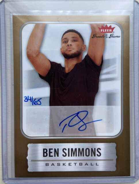 2020 Fleer Greats Of The Game Ben Simmons Diamond Dealer Auto #'d 34/65
