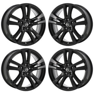 Image Is Loading 18 034 Fits Nissan Altima Sl Black Wheels