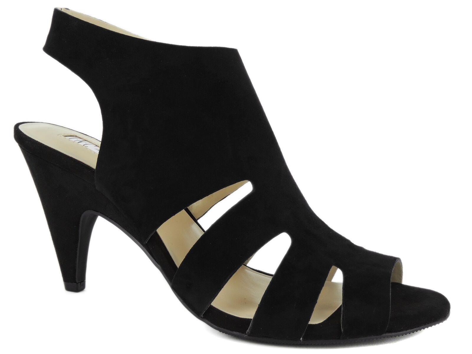 INC International International International Concepts Women's Giannah Sandals Black Suede Size 7.5 M baa6e8