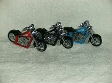 1 MOTORCYCLE NOVELTY LIGHTER New CHOOSE YOUR COLOR Red, Blue or Black