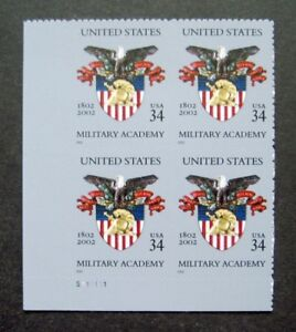 Sc-3560-Plate-Block-34-cent-U-S-Military-Academy-Issue-dd25