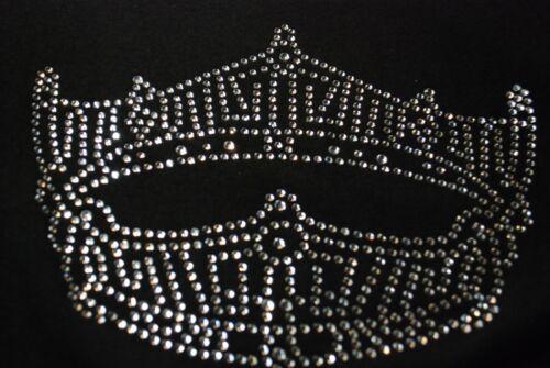 Miss America Pageant Crown Rhinestone Bling shirt XS S M L XL XXL 1X 2X 3X 4X 5X