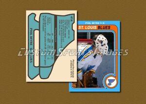 Phil-Myre-St-Louis-Blues-Custom-Hockey-Card-1978-79