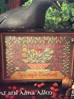 Blackbird Designs Springs Promise Loose Feathers 1 Cross Stitch Pattern