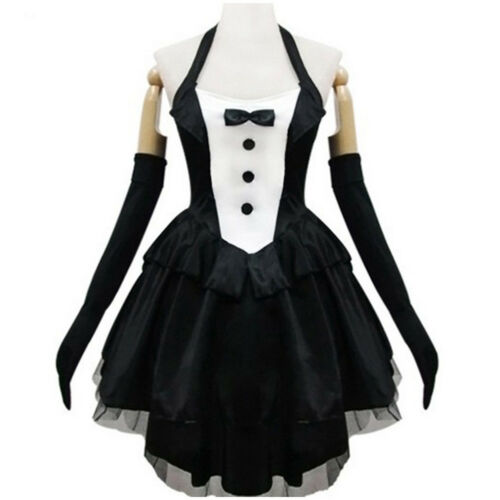 S-2XL Cosplay Halloween Carnival Bunny Girl Outfit Dress  Fancy Black Rabbitgirl