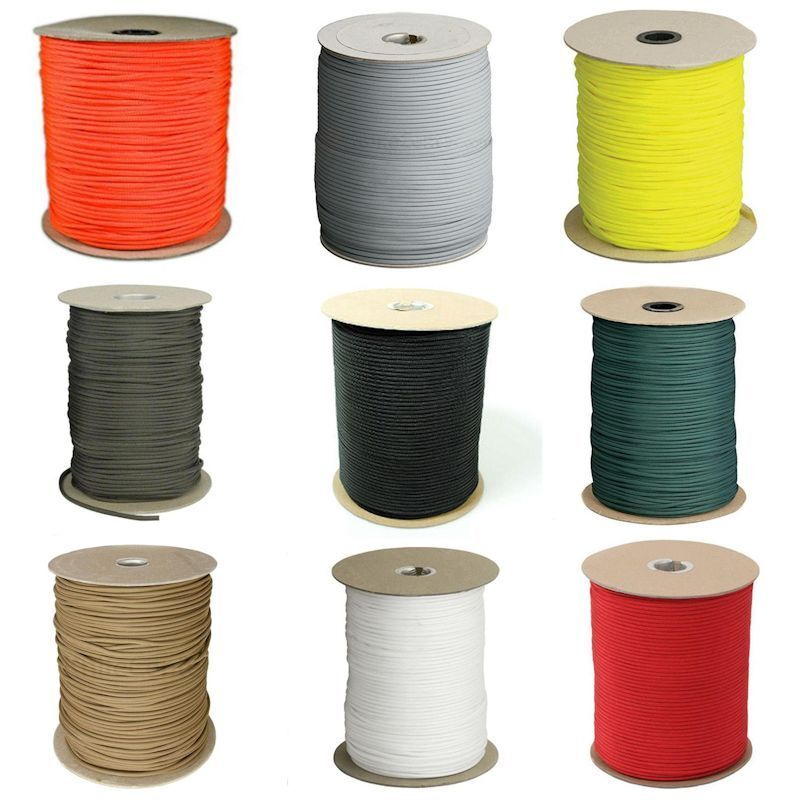 1000 ft. 550Type III Paracord Spool  Made in the USA (20 color Choices )