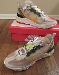52878e409ae6 Nike React Element 87 Size 11.5 Orewood Brown Laser Orange AQ1090 ...