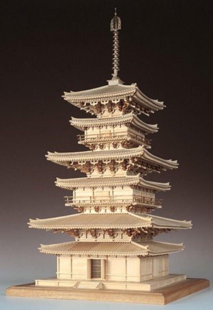Woody JOE 1 75 modello Kit Yakushi-Temple East Pagoda Laser Cut nuovo