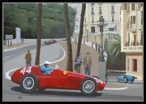 Painting-1955-Grand-Prix-of-Monaco-by-Toon-Nagtegaal