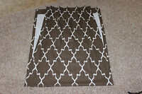 2 Custom Single Pleat Drapery Panels Brown Ikat 26x90 Carol Fabric Designer
