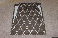 2 Custom Single Pleat Drapery Panels Brown Ikat 26x90 Carol Fabric Designer