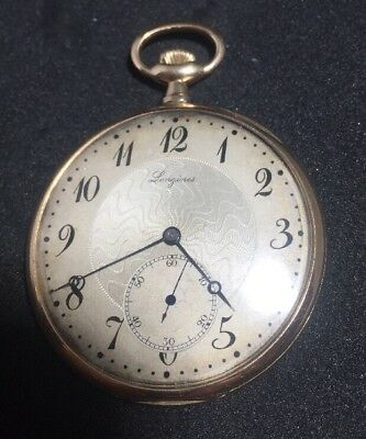 Pocket Watches Jewelry & Watches Longines Antique Since 1900 14k Stamped 14k/56 Case In Good Condition Beautiful In Colour