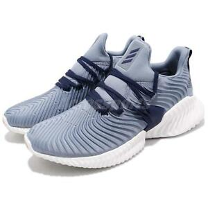 2bdf86722e290 adidas Alphabounce Instinct M Raw Grey Blue Mens Running Shoes ...