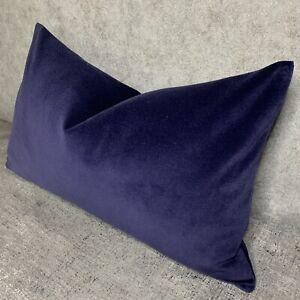 Modern-Cushion-Cover-12-x20-John-Lewis-Cotton-Velvet-Oxford-Blue-Contemporary
