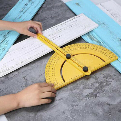 Flexible Plastic 180° degree Angle Finder Measuring Ruler Calibration Protractor
