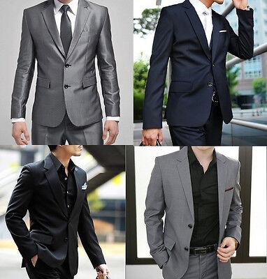 New Plus Big Size Mens Suit Wedding Formal Suits Jacket Pants Tuxedos