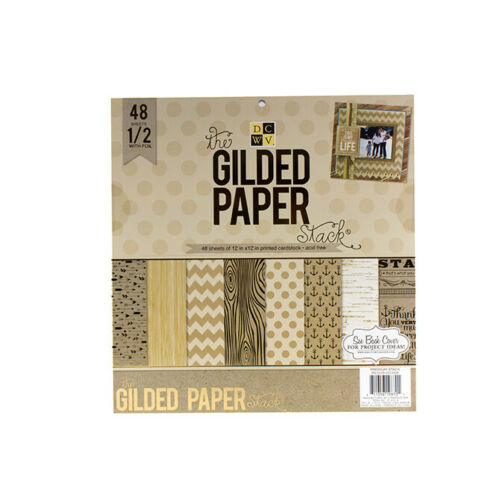 """12X12/""""  PS-005-00358 48 SHEETS DCWV®️ GILDED PAPER"""