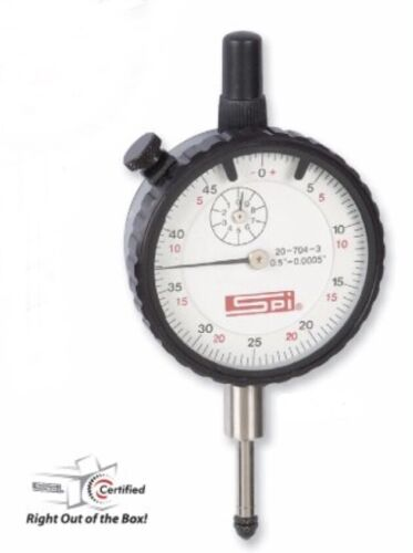 "20-704-3 Classic Dial Indicator 0.500"" Range 0.0005"" Graduation 0-50 /& 0-25-0"