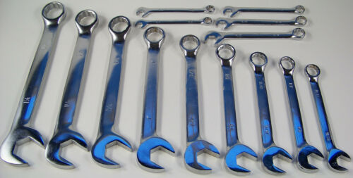"""14pc SAE ANGLE Head COMBINATION WRENCH SET with Storage Pouch Big 1-1//4/"""" combo"""