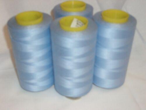 4 Cônes Baby Blue COMETA 5000 yds Machine à Coudre Overlock fil LIVRAISON GRATUITE
